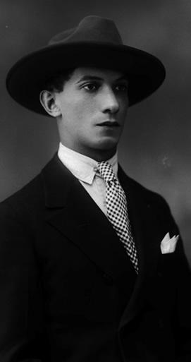 Libardo Parra fotografiado por Benjamín de la Calle, 1926.