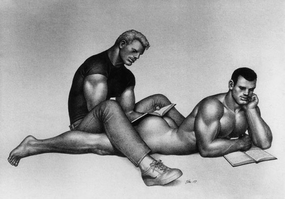 Dibujo de Tom of Finland.