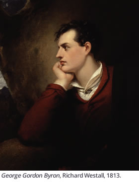 George Gordon Byron, Richard Westall, 1813.